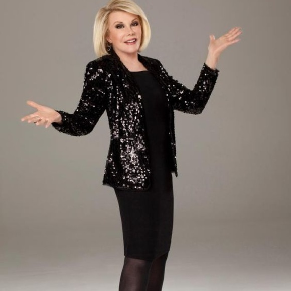 ab6dc6b2e1194d Joan Rivers Touch of Sparkle Sequin Blazer